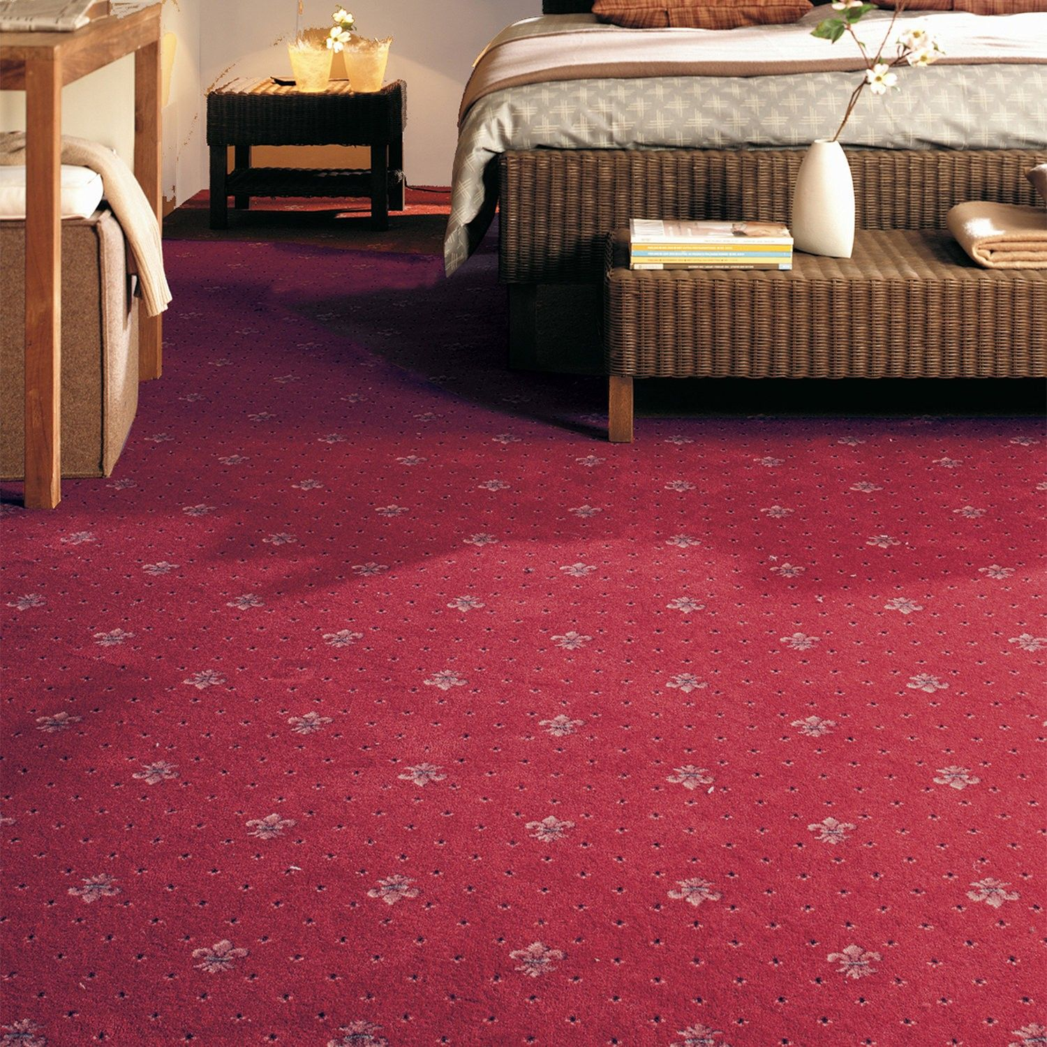 Rossini Pattern Carpet in neutral for hall and stairs