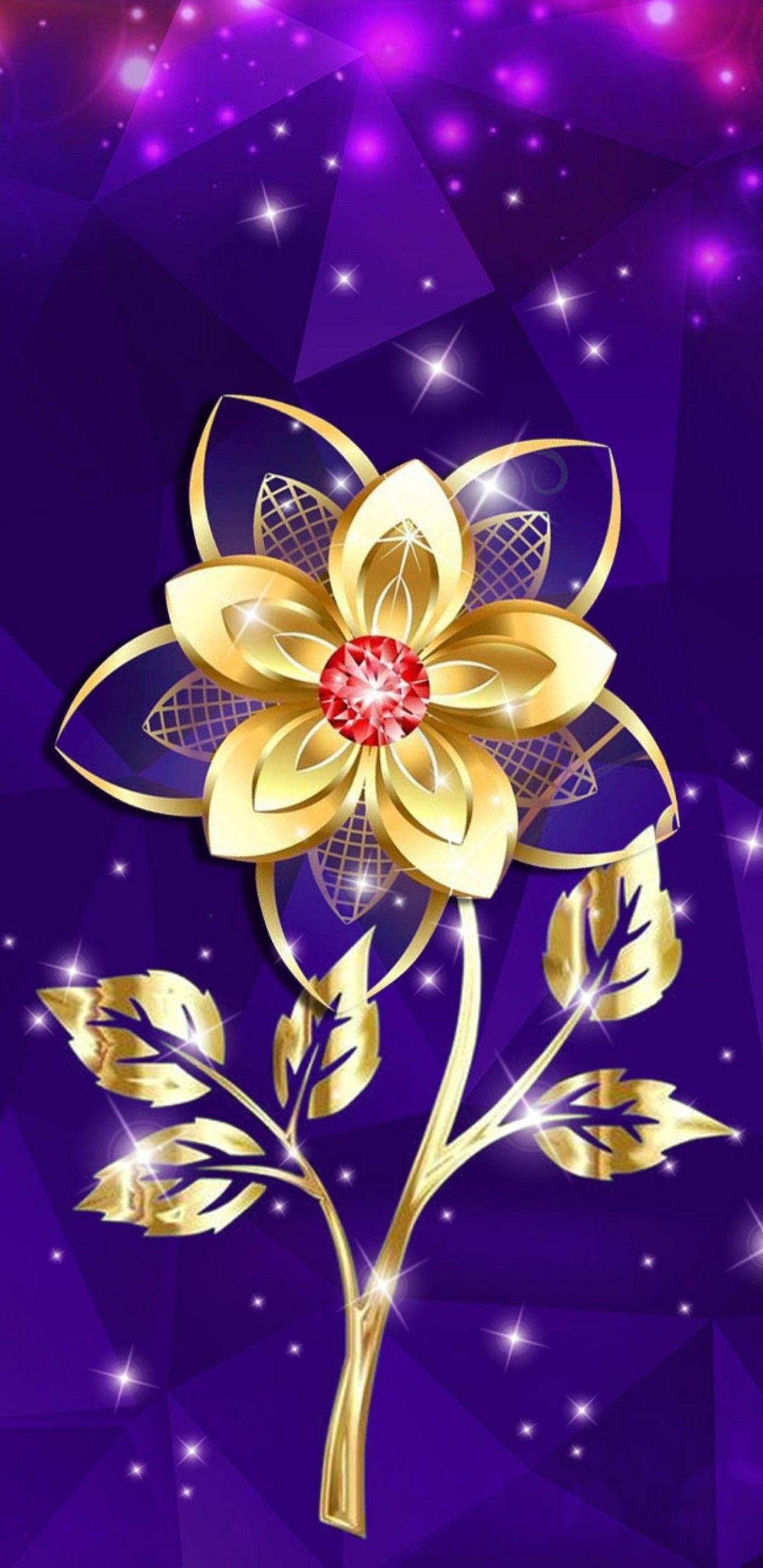 Pin By Barbara Beachum On Flowery Wallpaper 2 Flower Phone Wallpaper Gold Wallpaper Phone Phone Wallpaper