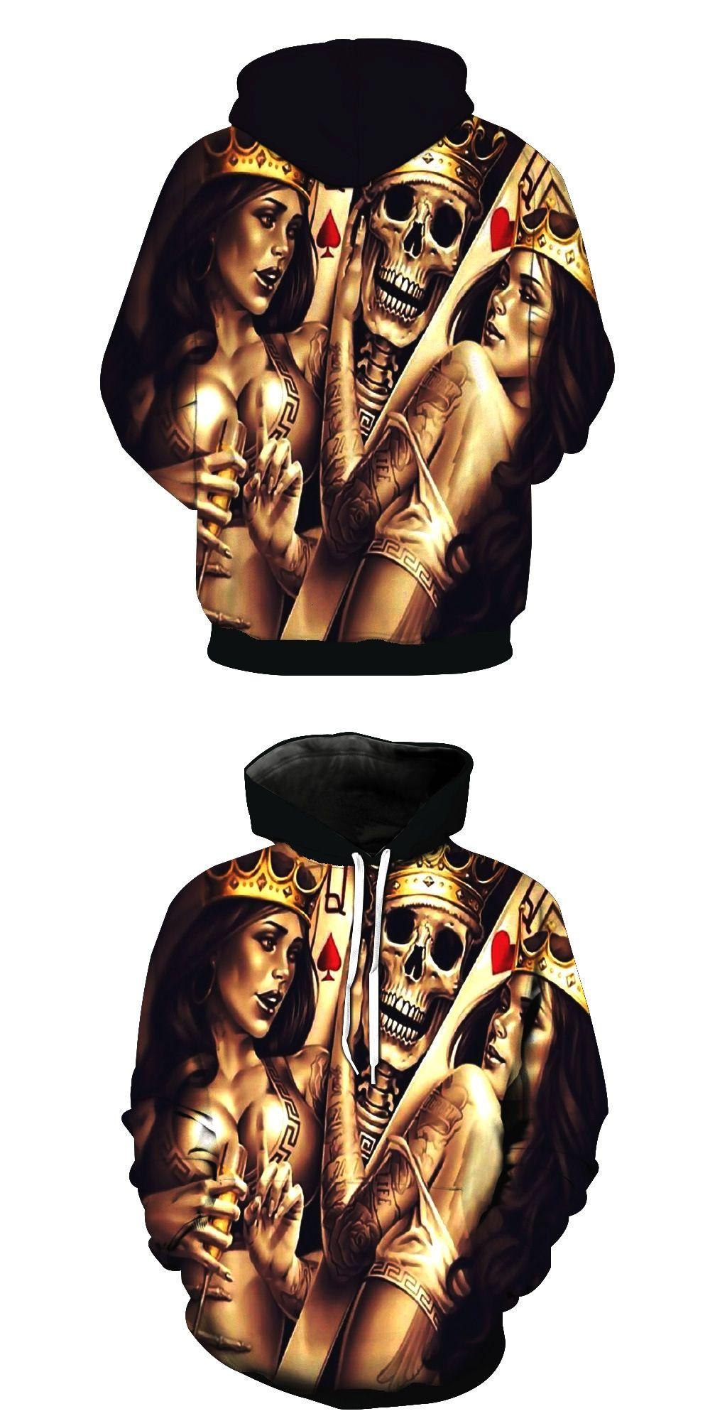 54457d5c0c3c BKYOGA skeleton Hoodie Men Women Long Sleeve Autumn Hooded SweatshirtMetal  Skulls Bride Groom Hooded Hoodies Thin