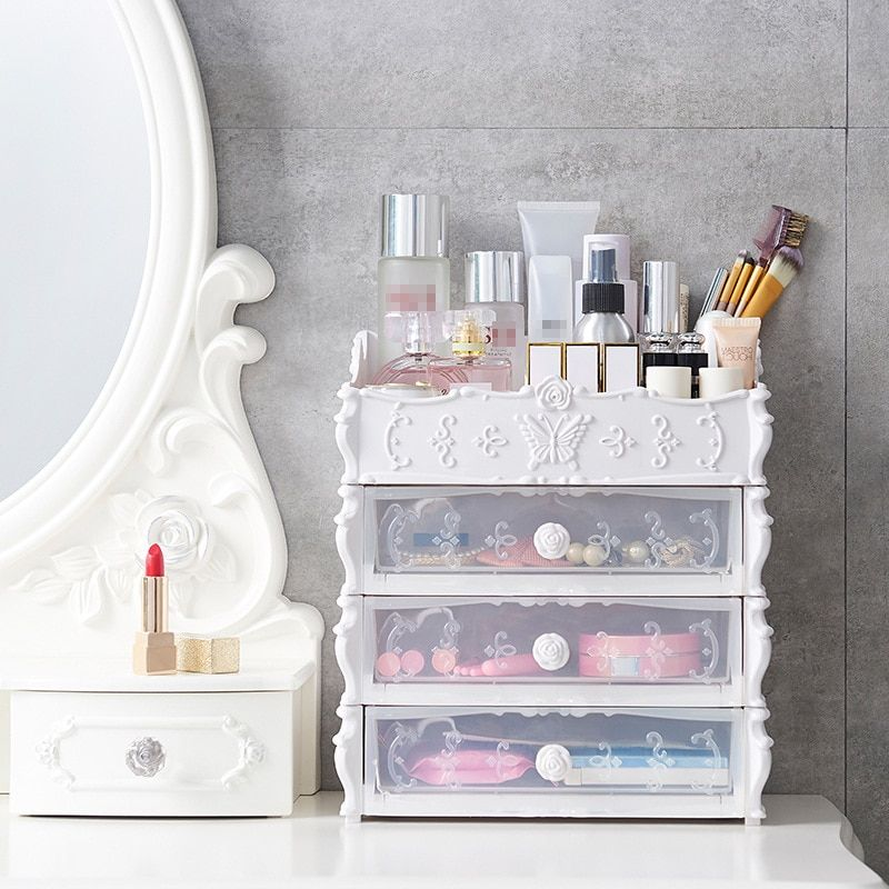US 7.17 29.97 Plastic Cosmetic Drawer Container Makeup
