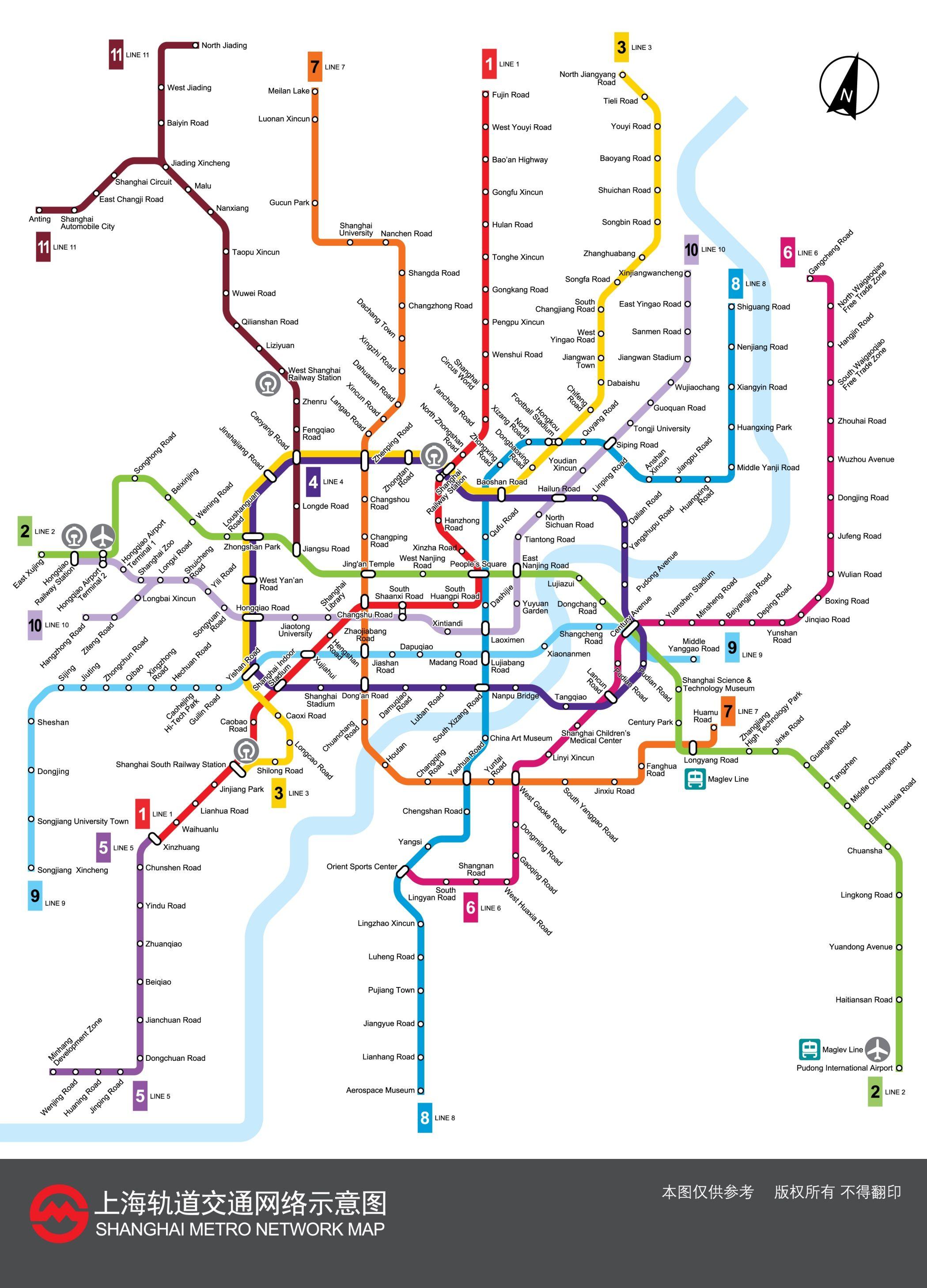 Aquí se ve la imagen de un ejemplo de La Línea, en el que se ve un mapa de direcciones de trenes subterráneos.