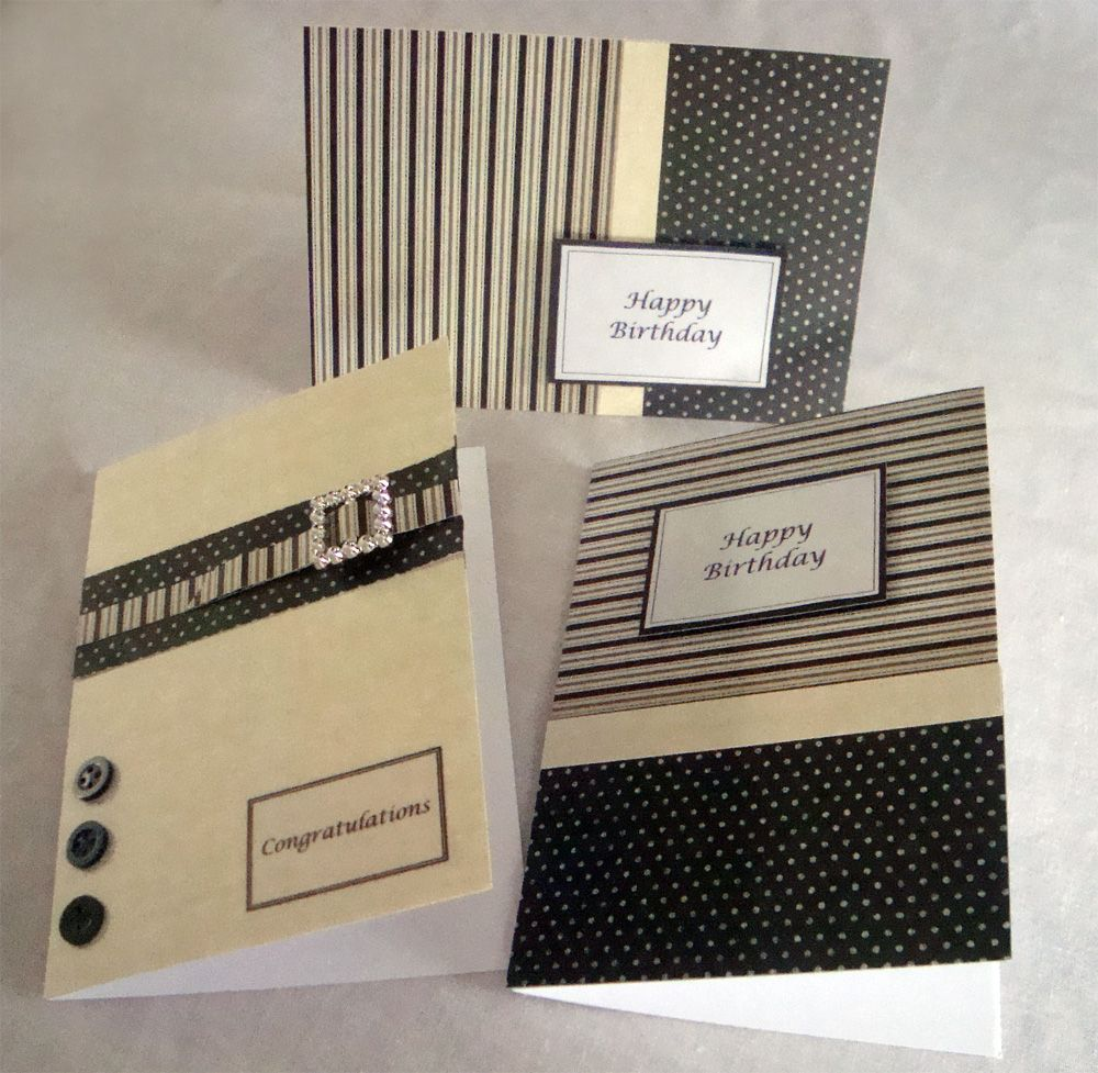 Marvelous Masculine Card Making Ideas Part - 1: Nice Guy Cards! Masculine ...
