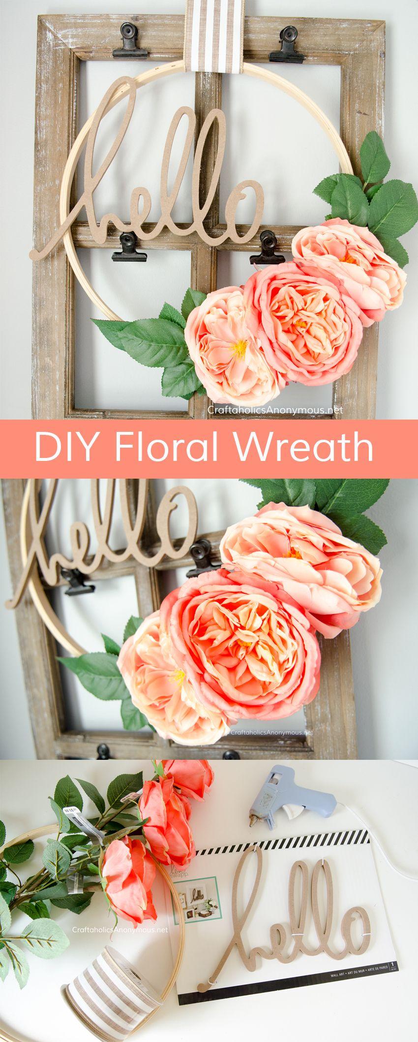 Floral Embroidery Hoop Wreaths Tutorial Diy spring