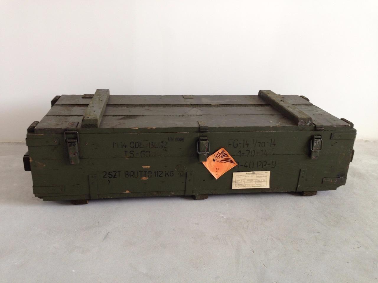 Army box ammo #military #storage box tool box #metal clip lock hinged lid & Army box ammo #military #storage box tool box #metal clip lock ...