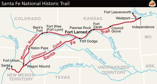 Santa Fe Trail Route Map The Trail Ends In Independence A Part