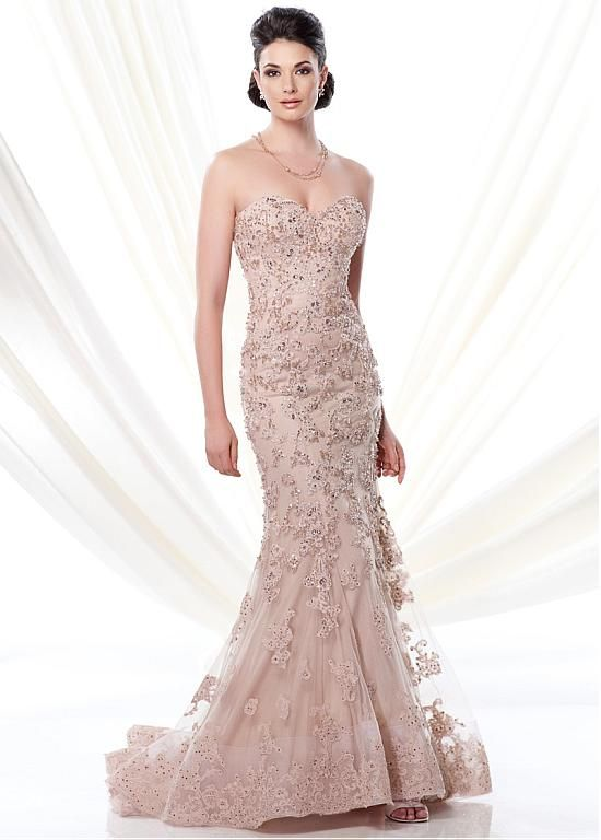 Buy discount Elegant Tulle & Satin Sweetheart Neckline Mermaid Mother of the Bride Dresses With Beaded Lace Appliques at Dressilyme.com