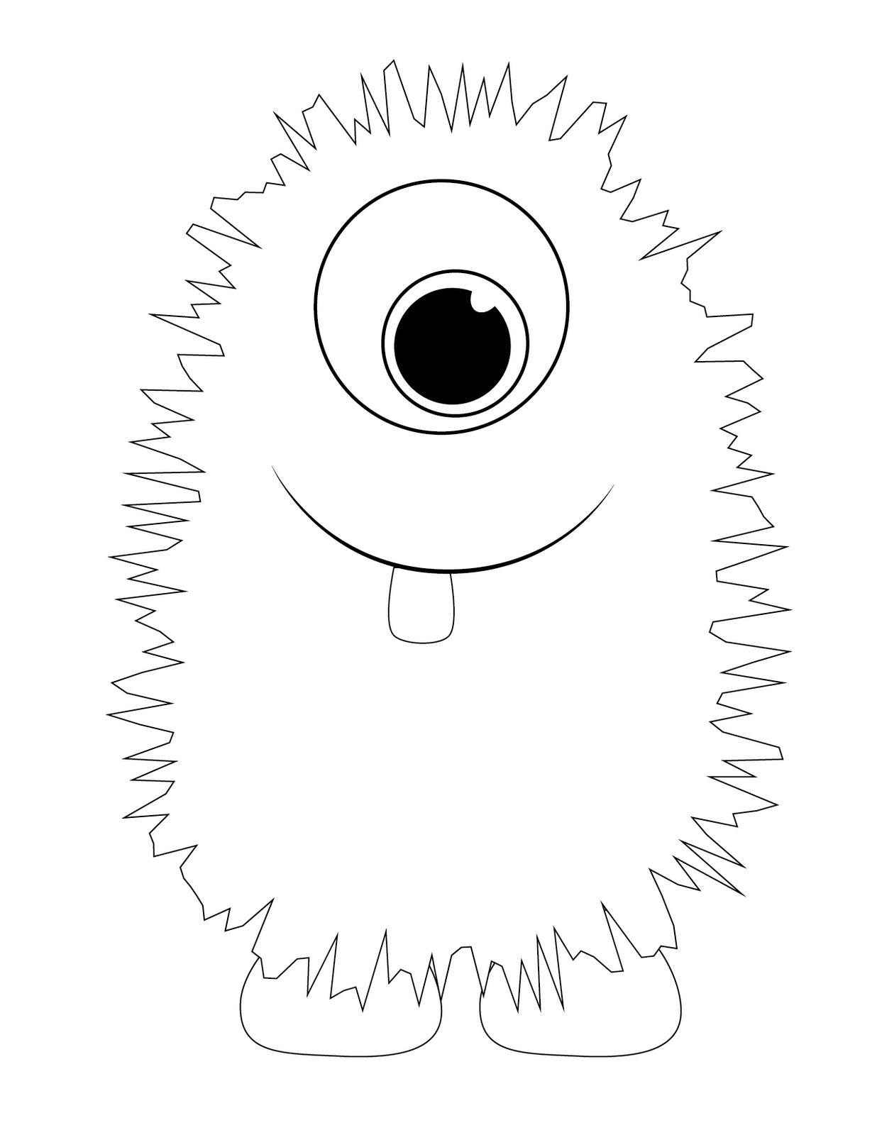 Cute Monster Coloring Pages Printable Images & Pictures - Becuo ... | 1600x1236