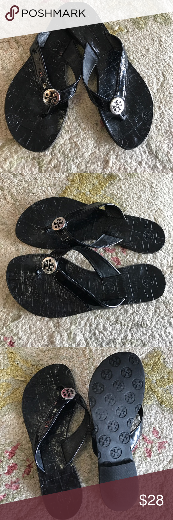 Tory Burch flats In very used condition. That's why the low price Tory Burch Shoes Flats & Loafers