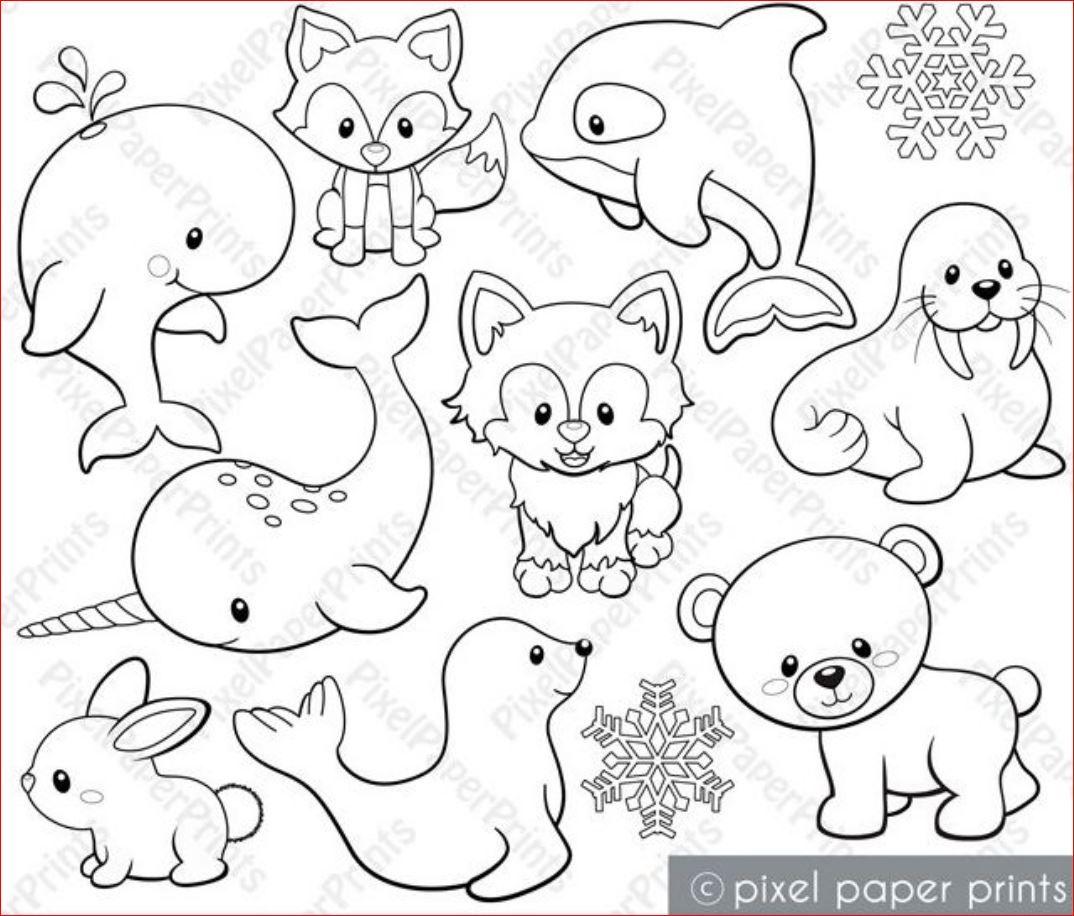 Variety Of Land Amp Sea Animals Digital Stamps
