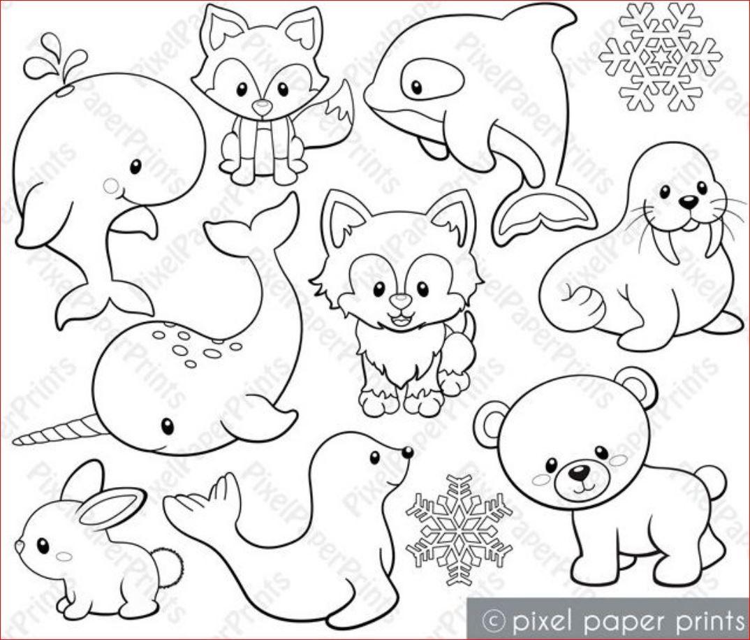 Variety of Land & Sea Animals Digital Stamps | Digital ...