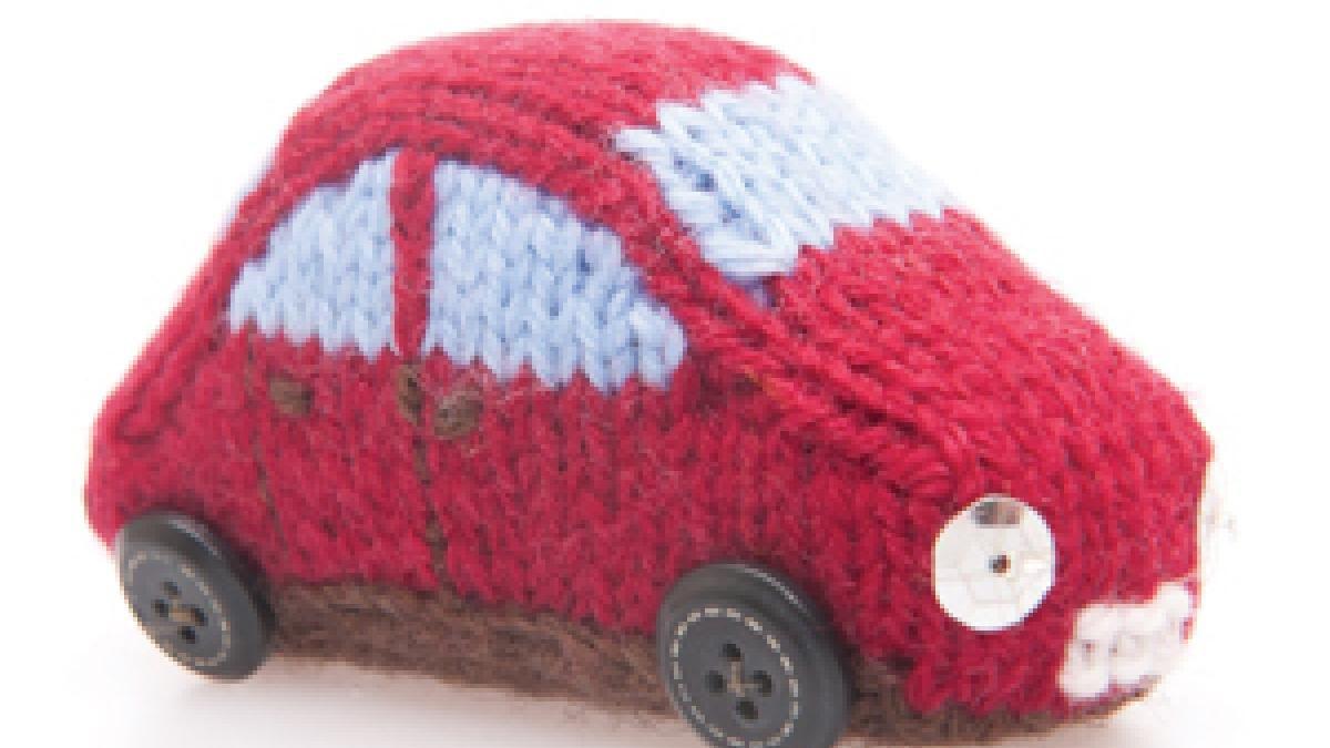 Free knitting pattern: Knit a miniature car | The Yarn Loop ...