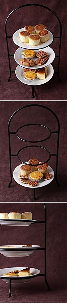Tiered Pie Stand Creative Home 73045 3 Tier Dinner Plate Rack 20