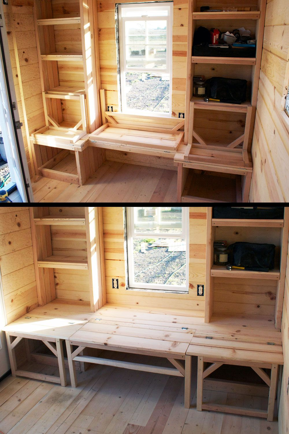 Smart Designs For Small Homes On Instagram Smart Seating Storage Sleeping Solutions Space Tiny House Interior Design Tiny House Interior Modern Tiny House