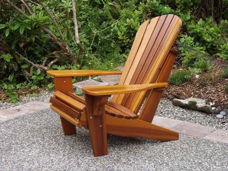 Pallet Adirondack Chair Plans  Adirondack chair plans Chairs and