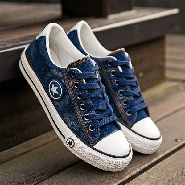 WOMENS FLAT CANVAS CASUAL COMFORT PLIMSOLLS TRAINERS LADIES WALKING SHOES SIZE
