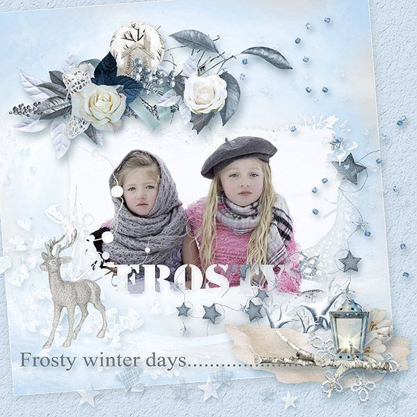 Check out this new kit by Vanessa's Creations  Frosty Winter Days  Available at  Pixels & Art Design http://www.pixelsandartdesign.com/store/index.php?main_page=index&cPath=128_316  Scrap From France http://scrapfromfrance.fr/shop/index.php?main_page=inde