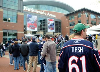 Nationwide Arena, Columbus Blue Jackets #hockey In April ☺️