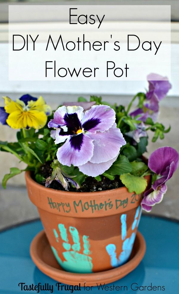 Mother's Day Flower Pots is part of Mothers day flower pot, Diy mother's day crafts, Mother's day diy, Flower pot crafts, Hand print flowers, Mothers day crafts for kids - Mother's Day Flower Pots are a simple, inexpensive gift for all the women in your life! They're a fun keepsake that will brighten up your home and smile