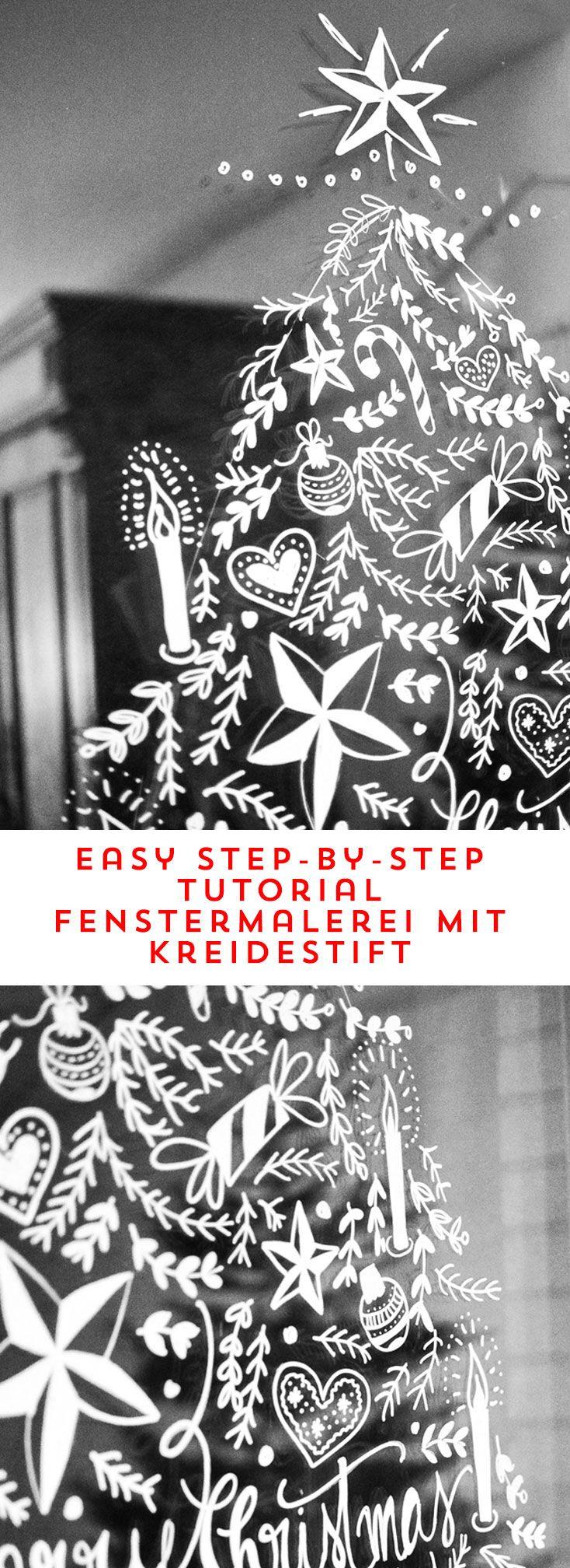 diy opulente weihnachtliche fensterdeko mit kreidemarker. Black Bedroom Furniture Sets. Home Design Ideas