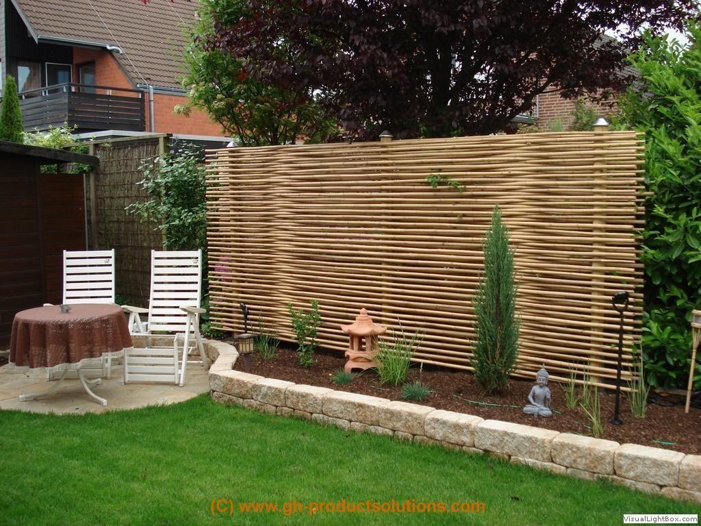bildergallery bambus sichtschutz | garten | pinterest | garten
