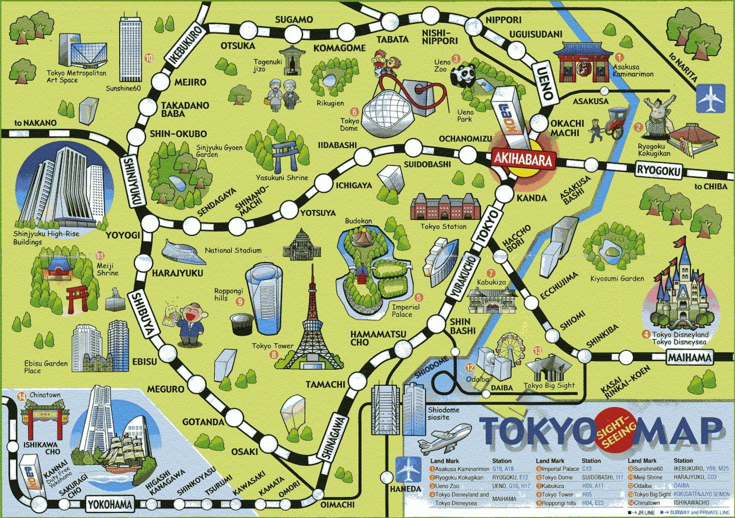 Tokyo Subway Map With Attractions.Image Result For Printable Map Of Tokyo Attractions Japan In 2019