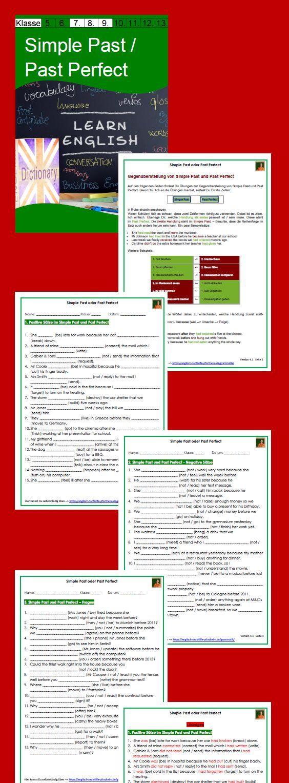 Simple Past oder Past Perfect - Arbeitsblätter mit Lösungen - PDF ...