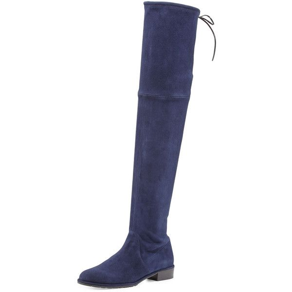 Blue leather boots, Blue suede boots