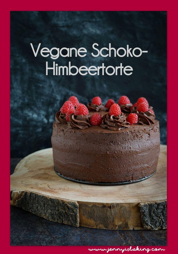 Vegane Schoko-Himbeer-Torte - Jenny is baking