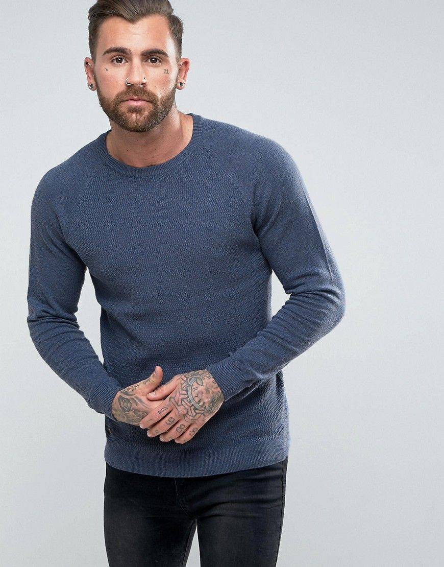 Get this Le Shark's knit pullover now! Click for more details. Worldwide shipping. Le Shark Textured Body Jumper With Jersey Raglan Sleeve - Navy: Jumper by Le Shark, Soft-touch knit, Crew neck, Raglan sleeves, Fitted trims, Regular fit - true to size, Machine wash, 100% Cotton, Our model wears a size Medium and is 189cm/6'2.5 tall. (jersey de punto, knitted, cotton, knit, knits, stitch, cashmere, knitwear, pullover, pullover hombre, lana, trenzados, strickpullover, jersey tejido, jersey au…