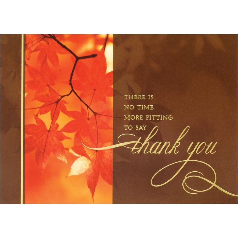 Thanksgiving Photo - Leaves Cards from the Fine Impressions Blank ...