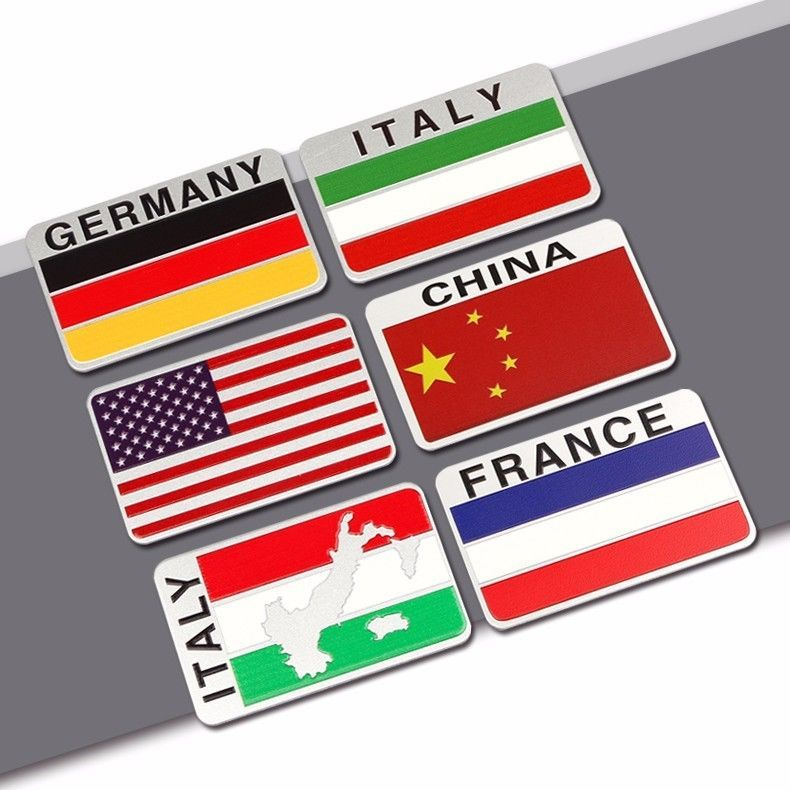 Metal Flag Of American Union Jack China Germany Italy