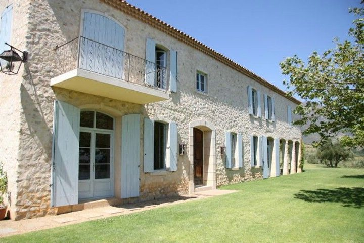 Keywords: Country,Courtyard,Farm Buildings,Farm House,French Provencal,Front Entrance,Garden,Provencal,Shutters,Stone,