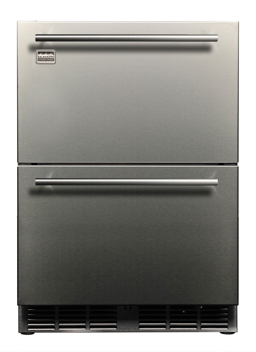 Kalamazoo 24 Outdoor Refrigerated Drawers Kalamazoo Outdoor Gourmet Outdoor Refrigerator Kalamazoo Outdoor Appliances