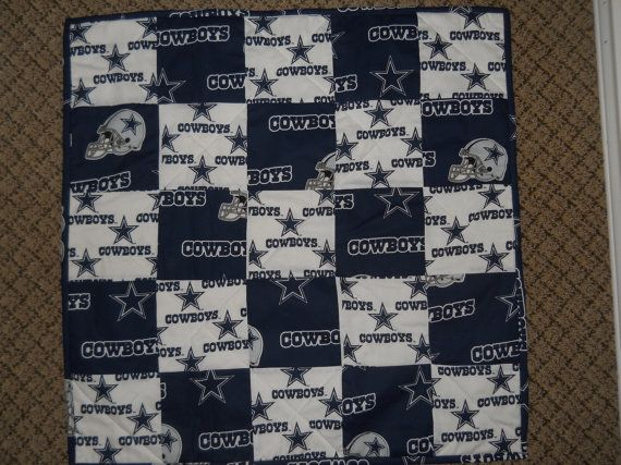 Dallas Cowboys Patchwork Quilt Blanket With By