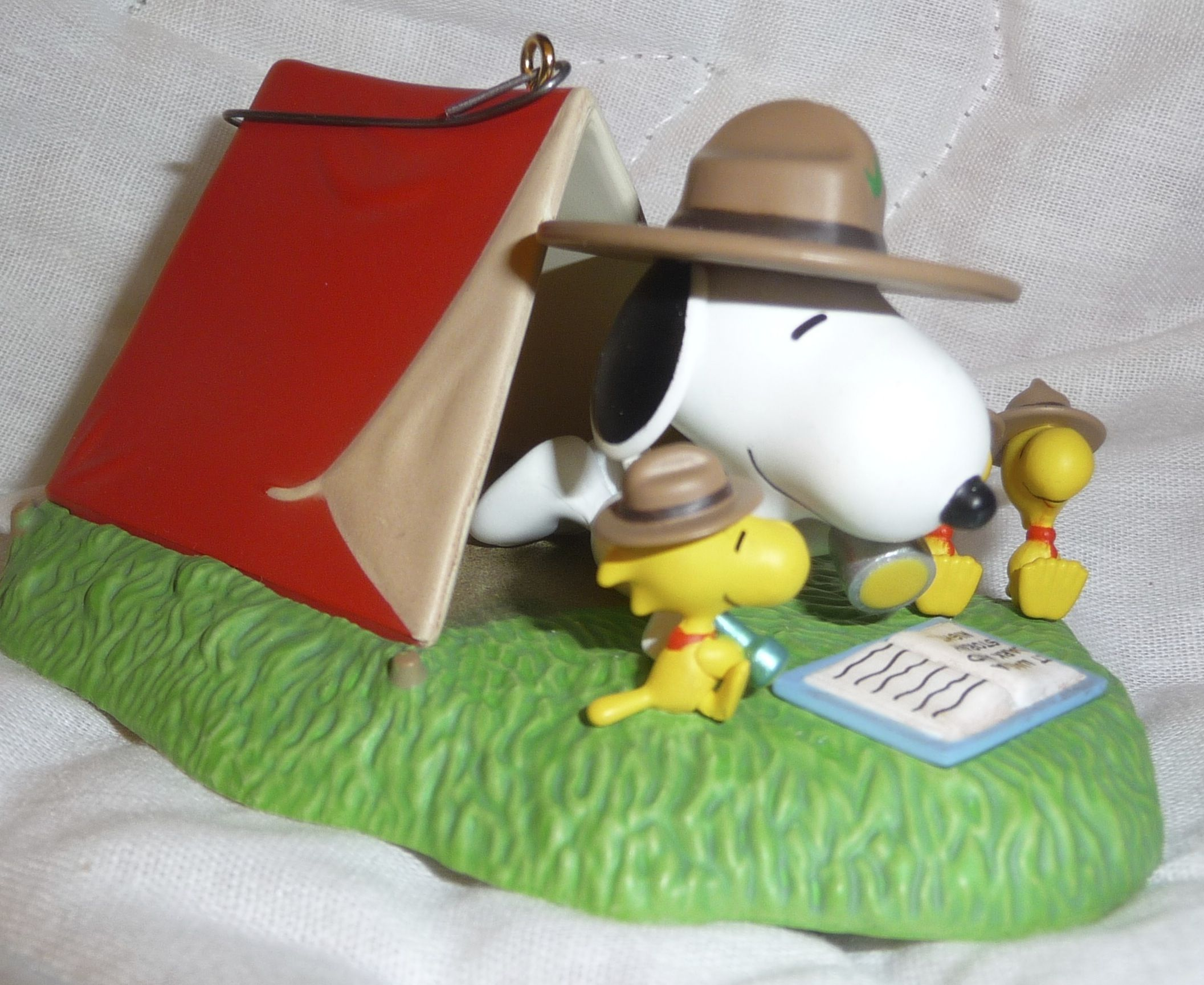 5e47b7abe0 Snoopy Beagle Scout and Woodstock Camping Tent Ornament