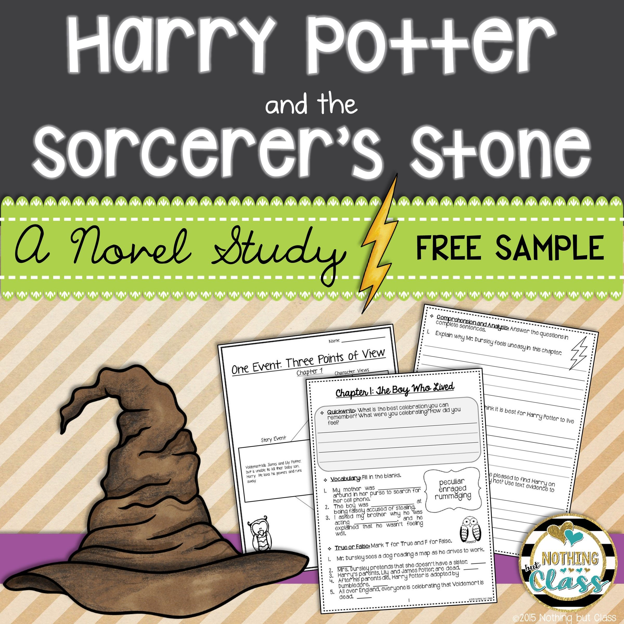 Harry Potter And The Sorcerer S Stone Novel Study Unit Free