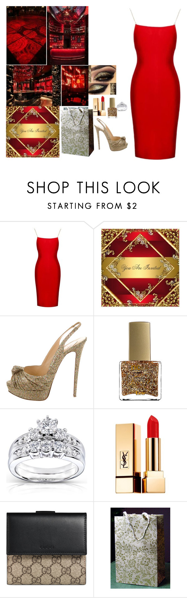 """""""Ariella's Bachelorette Party"""" by xxxladiidxxx ❤ liked on Polyvore featuring Christian Louboutin, ncLA, Kobelli, Yves Saint Laurent and Gucci"""