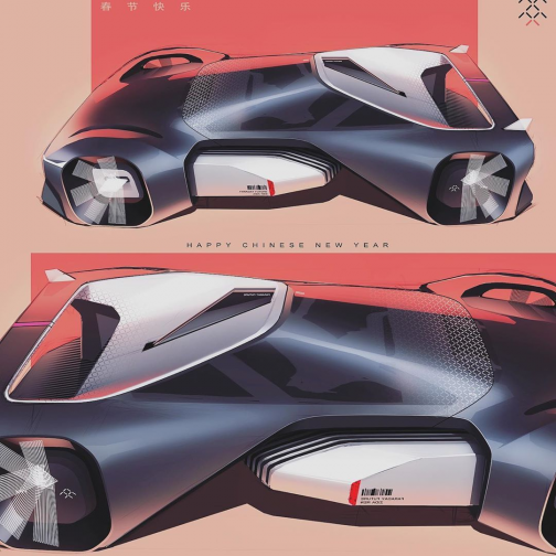 Zida Ren ??? on Instagram: P r a c t i c e_ FaradayFuture FFX_Happy Chinese New Year! #faradayfuture #cardesigndaily #carbodydesign #cardesign #cardesigner #conceptcars #concept #cars #concept #car #sketch #pencil