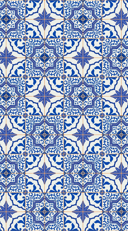 Portuguese Tile Vinyl Flooring | Mantle tile | Pinterest | Orange ...