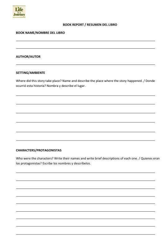 Book report template CRAFTS Pinterest Book report templates