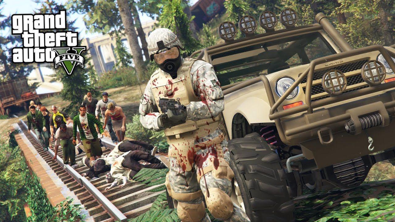 ZOMBIE APOCALYPSE!! (GTA 5 Mods)   gta 5   Gta 5 mods, Gta 5, Zombie