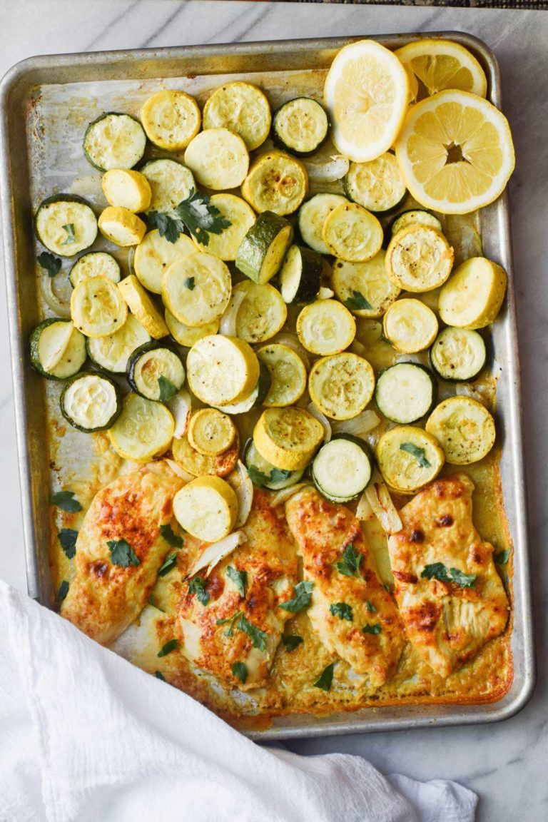 Rachel Schultz One Pan Lemon Hummus Chicken And Squash Recipe Hummus Chicken Yellow Squash Recipes Baked Lemon Chicken