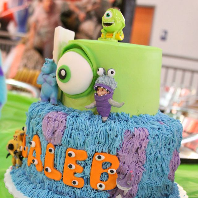 Calebs 4th bday cake 3 Monsters Inc by the AMAZING Debby Todd