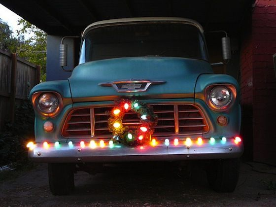 how to decorate your car for the holidays christmas truck christmas time very