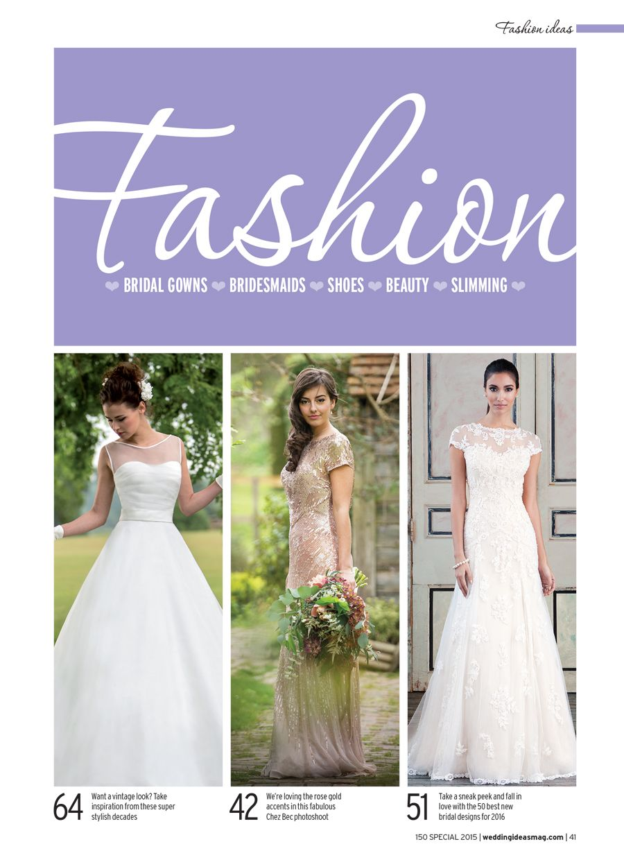 Justin alexander wedding dresses  Editorial Coverage  Justin Alexander wedding dresses are featured