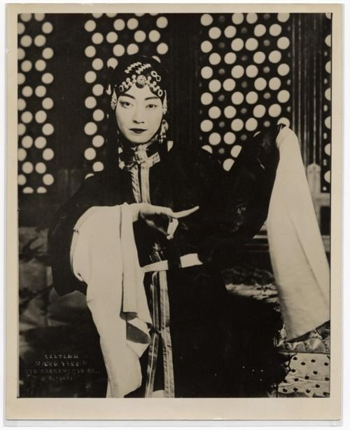 Mei Lanfang (1894-1961), male actor in the stage dress of a young woman - the only role he played in the Beijing Opera (also known as the Peking Opera or Jingju Opera). He introduced Beijing Opera to the World with his tours to Japan in 1919 and 1924, to the U.S. in 1930, and the USSR in 1932 and 1935.