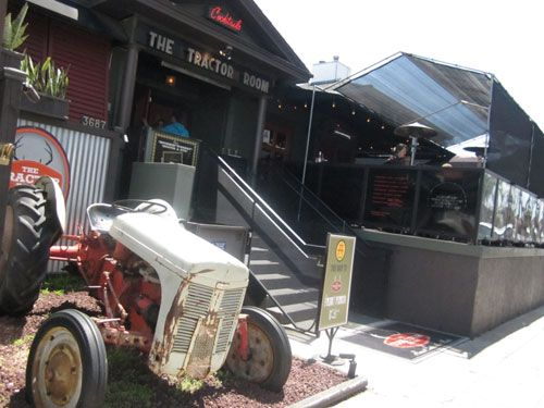I saw Jack White at the Tractor Room. Cool place - great food ...