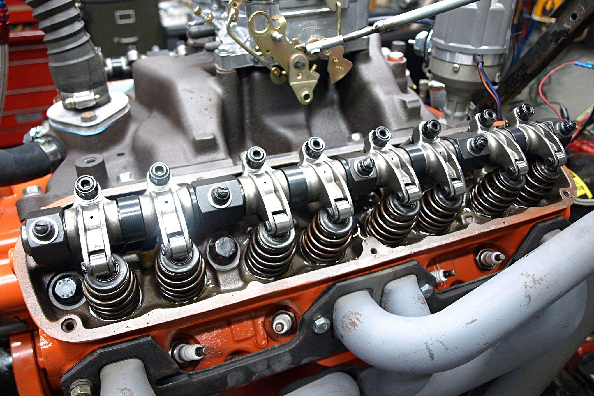The roller rocker arm kit rendered the Chrysler's 7 500-inch