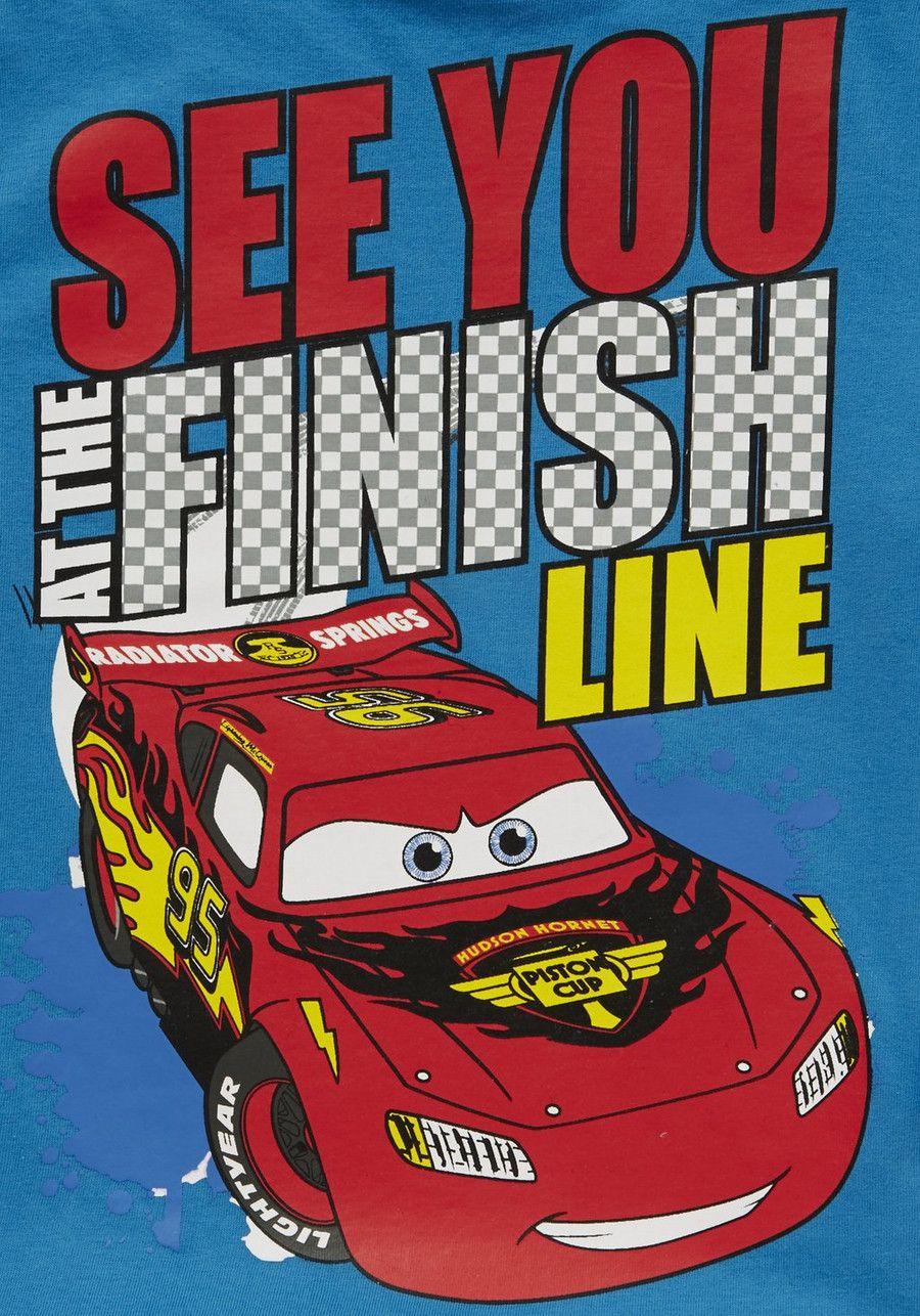 Disney pixar cars finish line slogan long sleeve tshirt