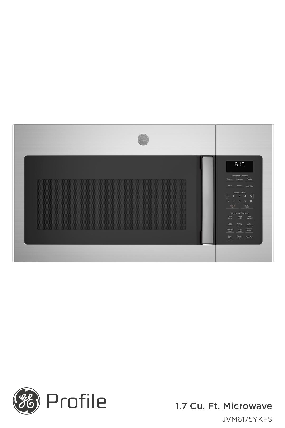 Ge 1 7 Cu Ft Over The Range Sensor Fingerprint Resistant Microwave Oven Jvm6175ykfs In 2020 Appliances Ge Appliances Cool Kitchens